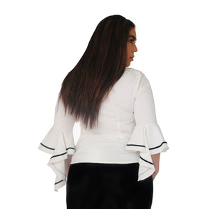 Flare sleeved top