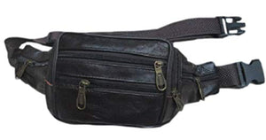REED Leather Waist Fanny Pack with 5 Compartments