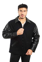 Load image into Gallery viewer, REED Men's Premium Straight Bottom Leather Wool Jacket Made in USA