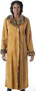 REED Women's Sheepskin Shearling Full-Length Coat