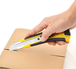 eZthings Heavy Duty 9mm Snap Off Blades Box Cutters Set for Cutting Materials: Wallpaper, Vinyl, Leather, Shrink-wrap
