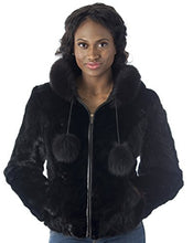 Load image into Gallery viewer, REED Women's Genuine Mink Fur Bomber Jacket -100% Real Fur