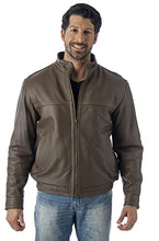 Load image into Gallery viewer, REED Men's Contemporary Stand Up Collar Leather Jacket