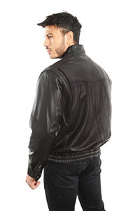 REED EST. 1950 Men's Coat Genuine Lambskin Leather Stand UP Collar S5Z Bomber Jacket