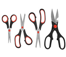 Load image into Gallery viewer, eZthings Scissors Set for Home Crafts and Arts or Office Cutting Projects (Multipurpose Scissors)