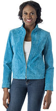Load image into Gallery viewer, REED Women's 22'' Misses Fit Stand Up Collar Leather Jacket