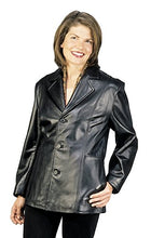Load image into Gallery viewer, REED Women's 27'' Misses Fit Three Button Leather Jacket in Imported Lamb