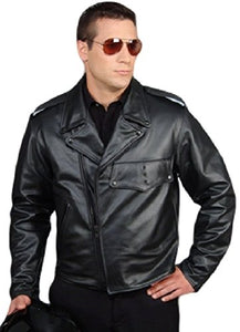 REED Men's Police Leather Motorcycle Patrol Officers Uniform Jacket