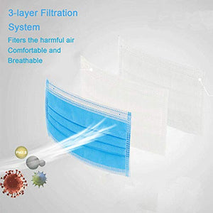 10Pcs Disposable 3-Layer Mask