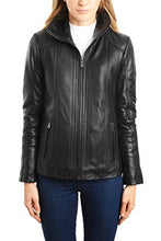 Load image into Gallery viewer, REED EST. 1950 Women's Jacket Genuine Lambskin Leather Stand UP Collar Winners Coat