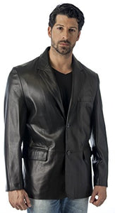 REED Men's Premium Lamb Skin Leather Blazer (Imported)