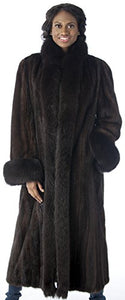 REED Women's Genuine Full Pelt Full-Length Mink Coat