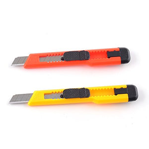 eZthings Heavy Duty Box Cutters Openers Utility Knives with Snap Off Blades