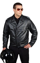 Load image into Gallery viewer, REED Men's Police Leather Motorcycle Patrol Officers Uniform Jacket