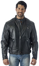Load image into Gallery viewer, REED Men's Premium Quality Leather Motorcycle Jacket with Zipper Air Vents - Imported