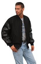 Load image into Gallery viewer, REED Varsity Leather/Wool Jacket - Made in USA