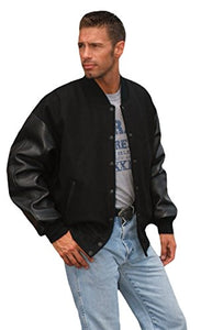 REED Men's Premium Varsity Leather/Wool Jacket Made in USA