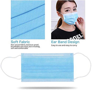 Face Mouth Mask, 10PCS Disposable Mask Anti-dust Earloop Mask