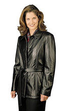 Load image into Gallery viewer, REED Women's Lambskin Leather Jacket with Belt