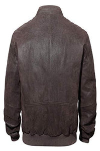 REED Men's Baseball Suede Leather Jacket (Imported)
