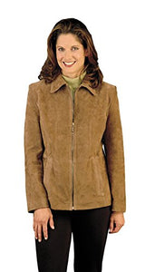 REED Women's Genuine Suede Leather Fashion Jacket