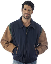 Load image into Gallery viewer, REED Men's Premium Quality Leather Letterman Varsity Jacket Made in USA