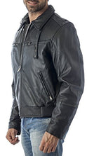 Load image into Gallery viewer, REED Men's Vented Leather Motorcycle Jacket with Biker Neck Warmer - Imported