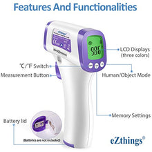 Load image into Gallery viewer, eZthings Heavy Duty LCD Display Non-Contact Infrared Forehead Thermometer for Medical Offices, Hospitals (White, Heavy Duty)