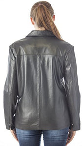"REED Women's 26"" Classic Leather Jacket"