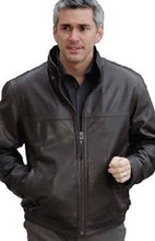 Load image into Gallery viewer, REED Men's Tall Winners Leather Jacket Union Made in USA