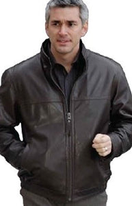 REED Men's Tall Winners Leather Jacket Union Made in USA