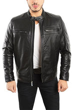Load image into Gallery viewer, REED EST. 1950 Men's Genuine Lambskin Leather Biker Jacket