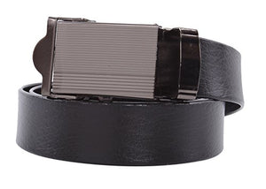 NO HOLES Men's Heavy Duty Durable Automatic Buckle PU Leather Belt