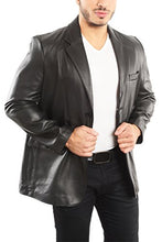 Load image into Gallery viewer, REED Men's Premium Lamb Skin Leather Blazer (Imported)