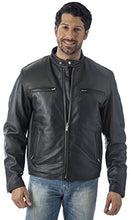 Load image into Gallery viewer, REED Men's Knock Around Biker Jacket in Imported Naked Cow with Zip Out Lining