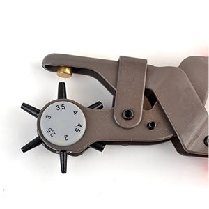 eZthings Professional Leather-Craft Punching Tool Revolving Punch Pliers Belt Leather Hole Puncher