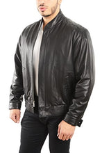 Load image into Gallery viewer, REED EST. 1950 Men's Coat Genuine Lambskin Leather Stand UP Collar S5Z Bomber Jacket