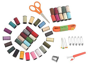 eZthings Professional Sewing Supplies Variety Sets and Kits for Arts and Crafts (Basket)