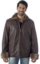 Load image into Gallery viewer, REED Men's Zip Up Collar Sheep Skin Leather Shearling Style Coat
