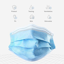 Cargar imagen en el visor de la galería, 10PCS Disposable Face Masks, 3-Ply Earloop Mouth Mask for Dust and Personal Health, Respirator Masks Thicker Breathable and Comfortable Safety Face Masks for Home Office Use