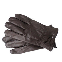 Load image into Gallery viewer, Reed Men's Genuine Leather Warm Lined Driving Gloves - Touchscreen Texting Compatible