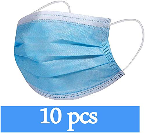 Disposable Maks, Anti Dust Disposable Face Shields for Health Protection (10pcs)