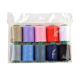 eZthings Professional Sewing Thread Kit for Arts and Crafts (380 Yard Thread x 10 Colors)