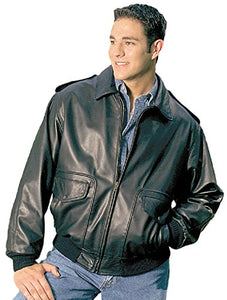 REED Men's Bomber Leather Jacket Union Made in USA