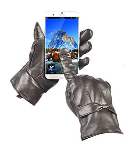 Reed Women's Designer Genuine Leather Gloves With Touch Screen Texting Index Finger