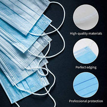 Load image into Gallery viewer, Disposable Filter Face Masks 3 Ply Used in Offices, Households Sensitive to Pets Thin Fabric Pads for Dust Protection (50pcs)