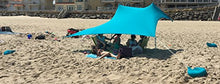 Load image into Gallery viewer, eZthings UV Light Sun Shade Protection Beach Shelters - Lightweight Tent Canopy with Sandbag Anchors