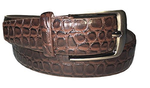 Crocodile Print Men's PU Leather Designer Dress Belt