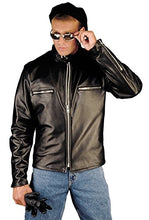 Load image into Gallery viewer, REED Men's Naked Cow Leather Motorcycle Jacket Made in USA