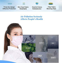 Load image into Gallery viewer, Disposable Face Masks - 50 PCS - For Home & Office - 3-Ply Breathable & Comfortable Filter Safety Mask